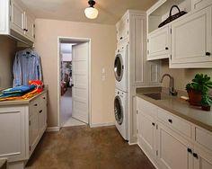 Laundry room into the closet