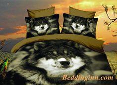 #wolf #beddingset #3d Desert Wolf Print Polyester Duvet Cover Sets  Buy link->http://goo.gl/17mBcF Live a better life, start with @beddinginn http://www.beddinginn.com/product/New-Arrival-Desert-Wolf-Print-4-Piece-Polyester-Duvet-Cover-Sets-11037571.html
