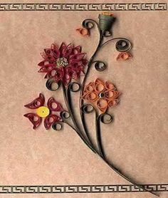 quill project, quill flower, quill card, old school, paper quilling, cards, free quill