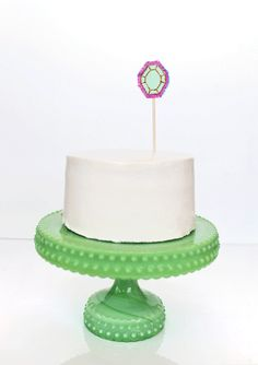gem cake toppers DIY | designlovefest