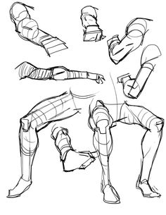 Foreshortening legs and arms