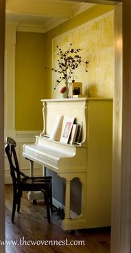 Upright piano in the living room parlour