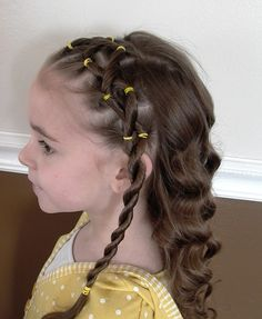 Many video tutorials for your little girl`s hairstyles.. Learn how to style hair for young girls by watching these great hair tutorials in this page. little girls, hair tutorials, style hair, little girl hairstyles, braids, little girl hairdos, hair style, kid hair, young girls