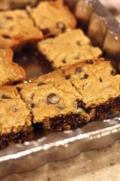 Chocolate Chip Cookie Bars MADE AND THEY ARE SUPER YUMMY!
