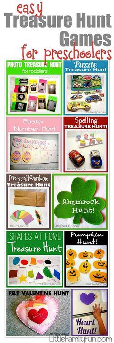 Little Family Fun: Easy Treasure Hunt Games for preschoolers