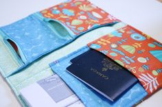 DIY Travel Document Holder. http://www.thimble.ca/?p=1443 #travel #gift #giftsfortravelers #sewing