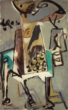 Untitled - 1944 - Oil paint on canvas - 73.2 X 45.6cm - Peggy Guggenheim Collection  Venice - Copyright Jackson Pollock, by SIAE 2008