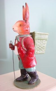 German Rabbit Candy Container