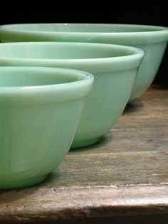 Love these jadeite mixing bowls  jh