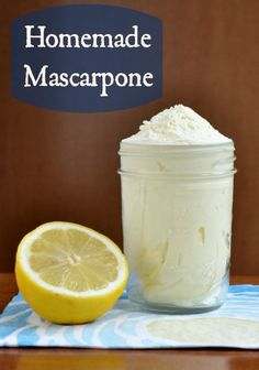 Homemade mascarpone from Real Food Real Deals