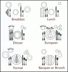 Six Place Setting Protocols For Every Meal!