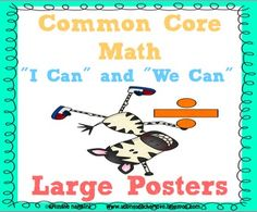 COMPLETE Fifth Grade Math Common Core State Standards Posters- kid language I can/ We can
