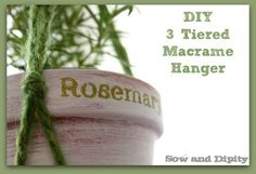 3 Tiered Macrame Plant Hanger, easy DIY project. #macrame