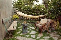 amazing gardens | Amazing Garden Design with Unique Furniture Picture
