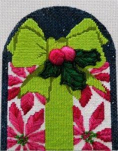 needlepoint present ornament
