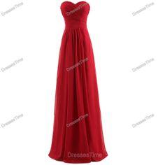 Red bridesmaid dress  long evening dress / chiffon by dressestime, $99.99