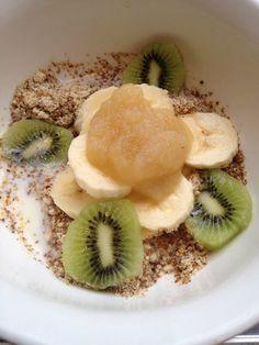 LSA (GF) porridge with bananas and kiwi fruit NO SUGAR @ Fitness, Food and Style: June 2012
