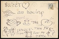 Citation: Xavier Gonzalez love note to Ethel Edwards, ca. 1985 . Xavier Gonzalez papers, Archives of American Art, Smithsonian Institution.