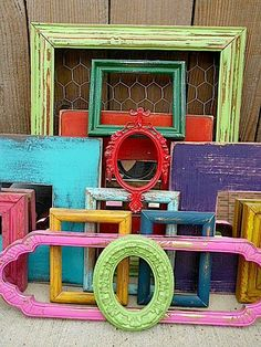 DIY colorful frames