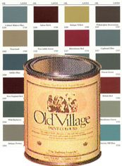 AUTHENTIC COLOURS crafted by masters of 18th and 19th Century color fidelity - fifth generation paintmakers. The Old Village paint craftsmen create the authentic colors that simply cannot be matched by a mass production process or by guessing and mixing. Old Village Paints are of superb quality, using natural earth pigments from around the world, as well as the heartland of America.