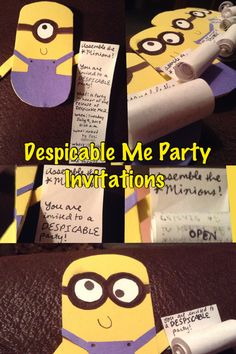 Despicable Me Party Invitations!