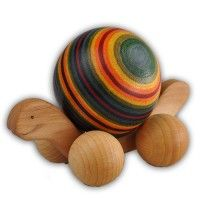 Wooden Rainbow Rolling Turtle, Toddler Push Toy
