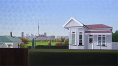 Brian Dahlberg // 'Images of Freemans Bay' Auckland #Art #Landscape #Oil #Painting #NewZealand