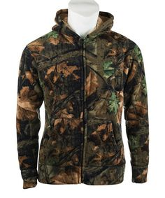 Brown & Green Camo Sherpa Hooded Jacket - Women by Trail Crest #camo #jacket #want #now $29.99