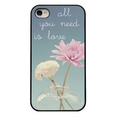 Flower Love iPhone 4 Case Blk now featured on Fab.