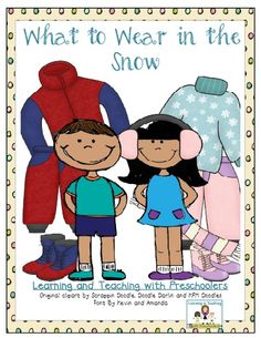 Learning and Teaching With Preschoolers: What to Wear in the Snow Freebie