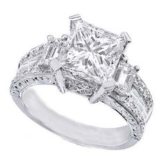 Princess Cut Diamond Vintage Engagement Ring