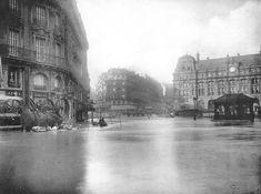 1910......PARIS GARE SAINT LAZARE.....CRUE DE LA SEINE.............