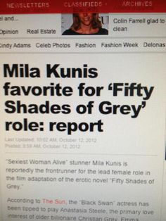 Any thoughts? I am not surprised at all though...kind of weird that she JUST got the Sexiest Woman Alive since Ana was anything but lol