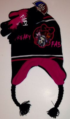 Monster High Winter Hat And Gloves Set NEW With Tags