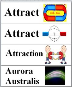 Magnetism - Science Word Wall Cards
