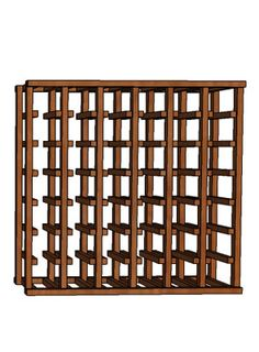 """Premium Series 6 Column 27"""" Modular Rack from WineRacks.com starting at: $125.00    Dimensions: 27 3/4"""" wide x 27"""" high x 12 3/8"""" deep  Capacity: 42 Bottles  Available in: Mahogany, Oak & Pine    This rack is constructed of solid wood with no stain/finish and will hold up to a standard champagne-size 750ml bottle. This rack is designed to stack on top of our other racking to extend the height. Rack is shipped partially assembled.  You must attach the horizontal spacer bars to complete assembly."""