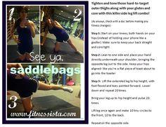 saddlebag workout, fit, bodi, at home workouts, exercis