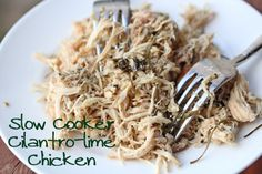 Slow Cooker Cilantro-Lime Shredded Chicken
