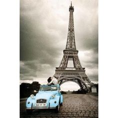 #6: Eiffel Tower, Paris France Romantic Poster Black  White Collections Poster Print, 24x36 Collections Poster Print, 24x36 Poster Print, 24x36