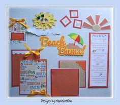 ELITE4U Marieleeann Beach Bums Mat Set Paper Piecing Scrapbooking | eBay