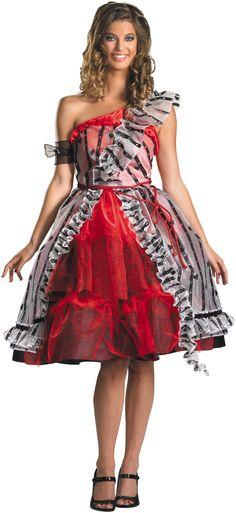 Alice In Wonderland - Alice Red Court Dress Adult Costume... a non slutty costume