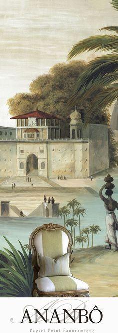 Ananbô Varanasi - Papier peint panoramique