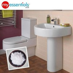 MyEssentials Tip #1936    Place an opened box of baking soda OR an open container of activated charcoal behind the toilet to  absorb bathroom odors.