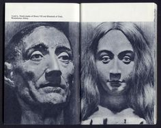 Death masks of Henry VII and Elizabeth of York. Westminster Abbey, London. Photographs: Eric de Maré. From the essay: On My Shelf: Nairn's London