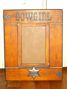 Western Cowgirl Honey Wood Vintage Photo Frame Rustic Distressed Cowboy West 4x6 #CountrynWestern