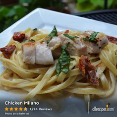 "Chicken Milano | ""Let me start by saying that this recipe is DELICIOUS. If you're having company over, or want to impress a date with a fabulous dinner - this is the meal to make."" — Spicymama29"