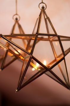 Nkuku Antique Brass Glass Star