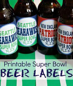 Super Bowl Beer Labe