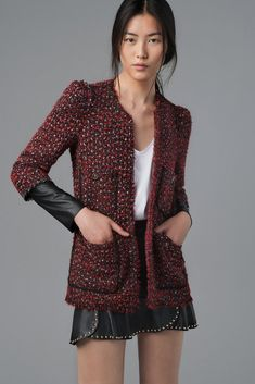 leather + tweed