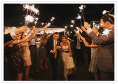 Sparklers to send you off #weddings